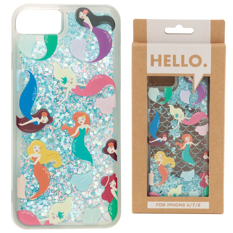 Cover Cellulare con Glitter - Sirenetta - per iPhone 6/7/8