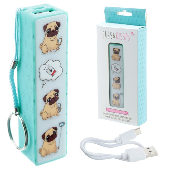 bb84f237e7 Portachiavi con Power Bank USB - Carlino - Pugs e Kisses